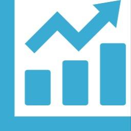 折れ線と棒グラフのアイコン素材 カブログ 副業株ブログ